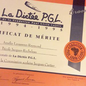 Dictée PGL - certificat