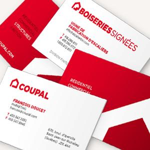 Coupal - cartes d'affaires