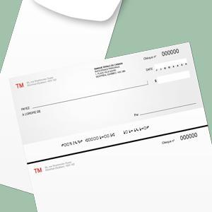 TM design - chèque